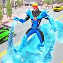 Flying Police Robot Snow Storm Hero: Crime City icon