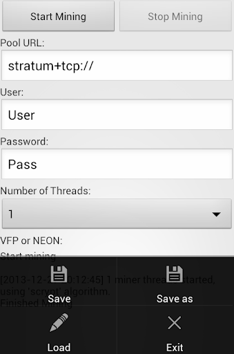 Crypto Miner (BTC,LTC,X11,XMR) screenshot 3