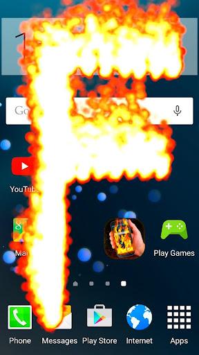 火災携帯電話の画面効果