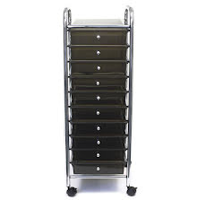 Cropper Hopper Home Center Rolling Cart - 10 Drawer Smoke