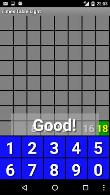 Times Table Light - screenshot