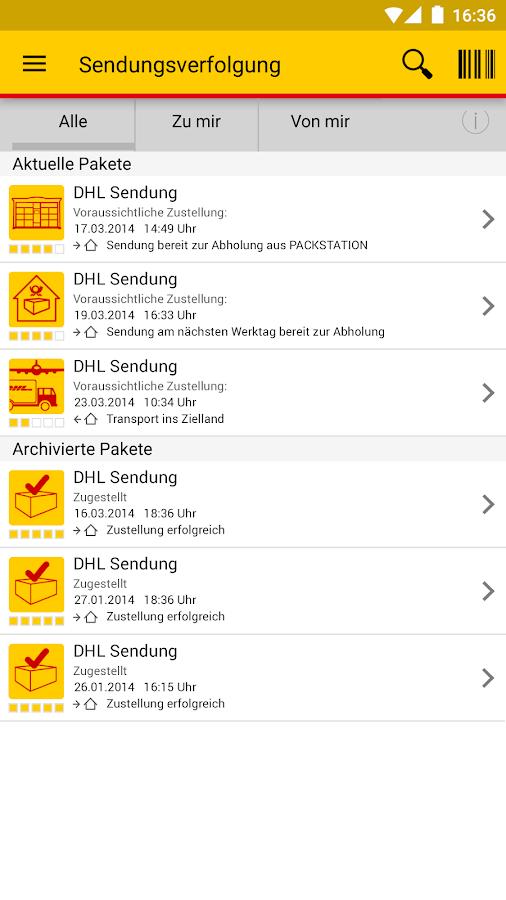 dhl paket android apps on google play. Black Bedroom Furniture Sets. Home Design Ideas