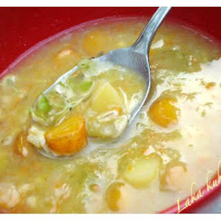 Vegetable Soup With Barley.