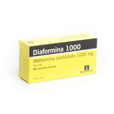 Metformina Diaformina 1000 Mg X 30 Comprimidos Roemmers
