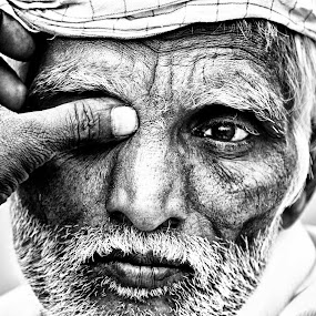 The one window to the soul by Arup Acharjee - People Portraits of Men ( old, mood, indian, senior ctizen, portrait, man )
