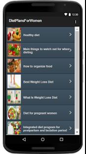 Diet Plans For Women - náhled