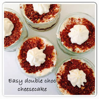 Really Easy Double Choc Cheesecakes.