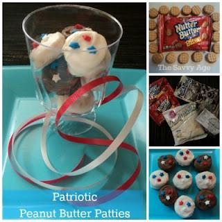 Patriotic Chocolate Peanut Butter Patties