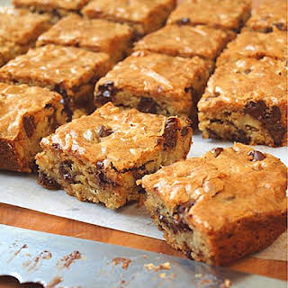 Chocolate Chip Pecan Blondies.