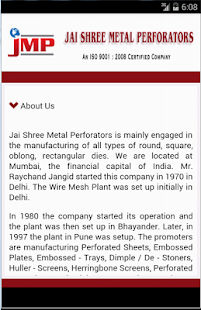 Jaishree Metal Perforators- screenshot thumbnail