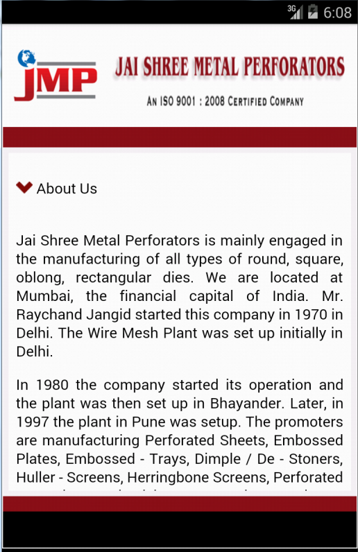 Jaishree Metal Perforators- screenshot