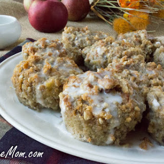 Low Carb Grain Free Apple Crumb Muffins.