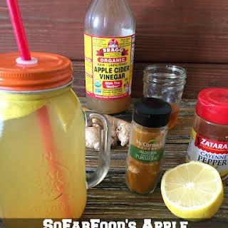 Apple Cider Vinegar and Lemon Detox Drink.