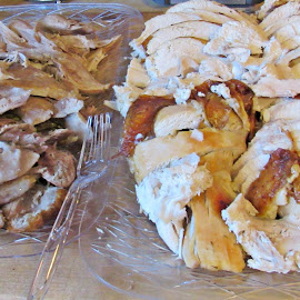 Gobble Gobble by Sandy Stevens Krassinger - Food & Drink Meats & Cheeses ( plated, sliced, turkey, meat, food )