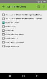 SSTP VPN Client - náhled