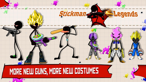 Stickman Legends: Gun Shooter - Fun Shooting Games  captures d'u00e9cran 1