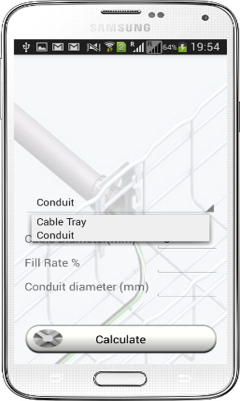 Cable Tray/Conduit Calculator- screenshot