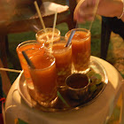 A hot Egyptian drink with chickpeas-very soup like