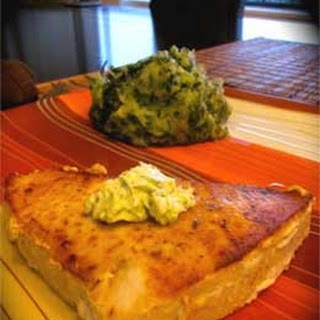 Grilled Swordfish Steaks with Basil Butter