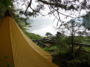 Photo: Campsite on Blake Island.