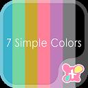 スーパーシンプル壁紙 [7 colors Simple]