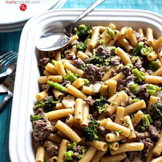 One-Pot Pasta with Beef & Broccoli.