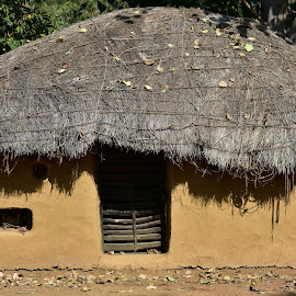ancient indian house made of clay, grass and wood  by Basant Malviya - Buildings & Architecture Homes ( houses, bhopal, indian )