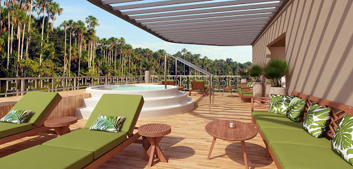 Amazon Discovery's sun deck and plunge pool.