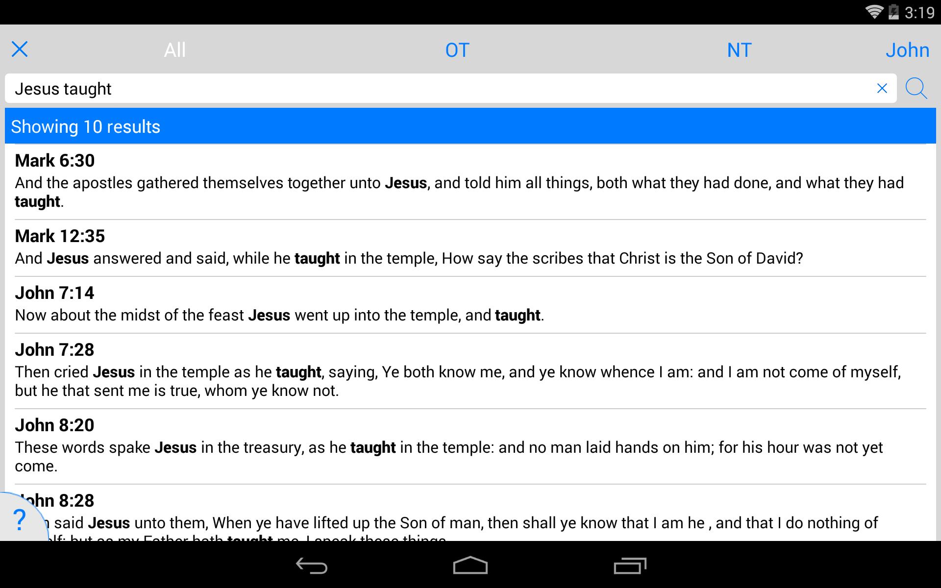 New American Standard Bible screenshot #21