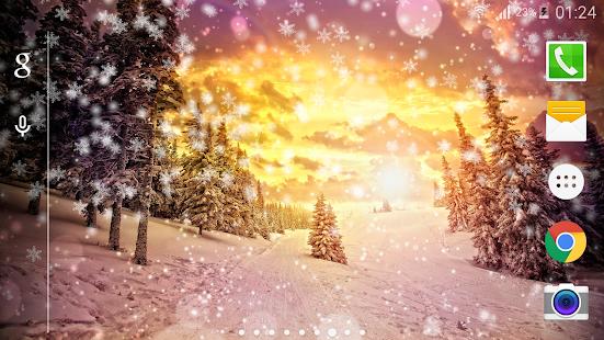 Sníh Night Pro Live Wallpaper - náhled