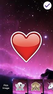 Emoji Unicornio Heart PIN Lock - náhled