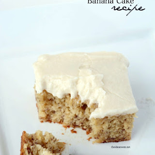 Banana Cake Dessert Recipes.