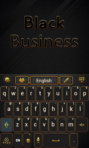Black Business Keyboard Theme