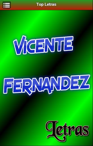 Letras Vicente Fernandez