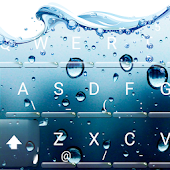 3D Blue Water Screen Droplets Keyboard Theme Android APK Download Free By Love Cute Keyboard