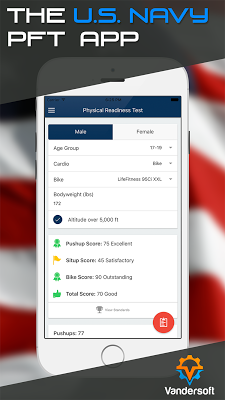Navy PFA - PRT BCA Calculator - screenshot