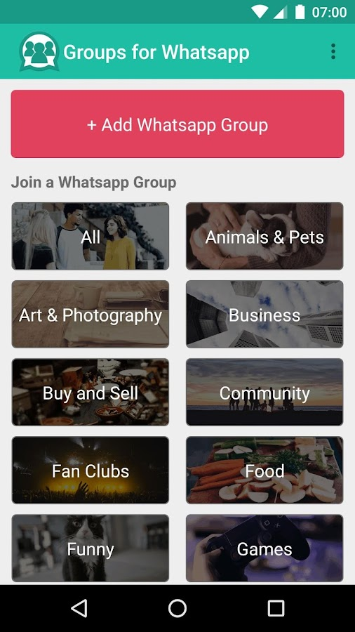 Groups for Whatsapp- screenshot
