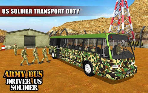 Army Bus Driver US Soldier Transport Duty 2017- screenshot thumbnail