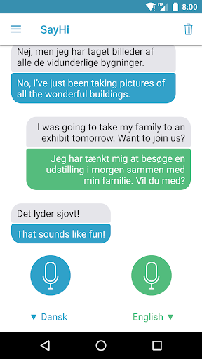 Screenshot for SayHi Oversæt in Denmark Play Store