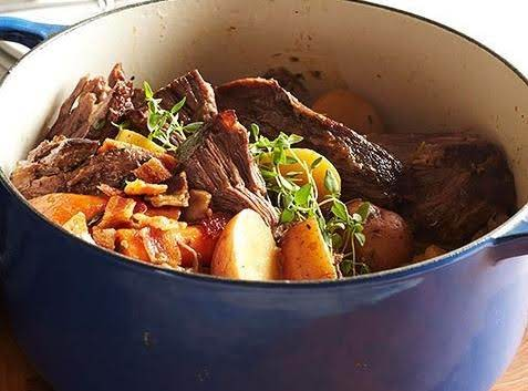 Garlic Bacon Pot Roast Recipe