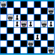 Chess Queen and Pawn Problem