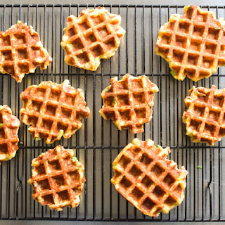 Waffled Mashed Potatoes With Bacon, Scallion, and Cheddar.