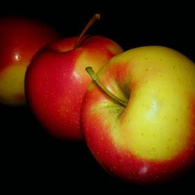 3 APPLES by Karen Tucker - Food & Drink Fruits & Vegetables ( fruit, healthy food, colourful, apples, three of a kind, food,  )