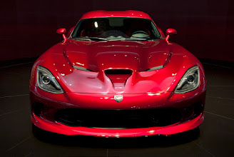 Photo: What? You want to see some new cars from the 2012 New York International Auto Show? Well, alrighty then. We'll start off with this sweet 2013 Dodge Viper SRT. It looked like it was going 160 just standing still.