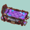 ステンドグラスなベッド