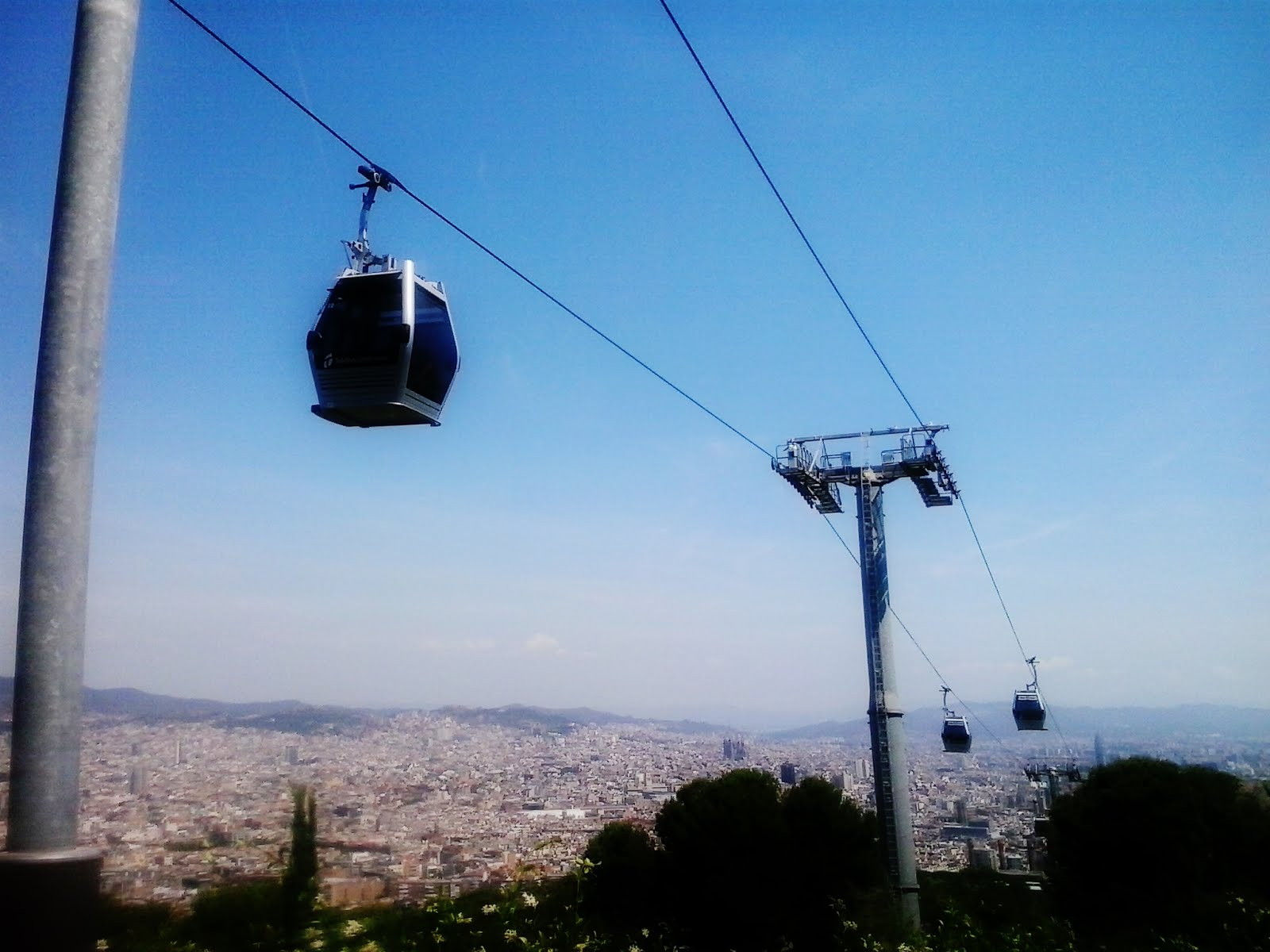 From the metro station Paral.lel, you can take the funicular up to Montjuic overlooking Barcelona city!