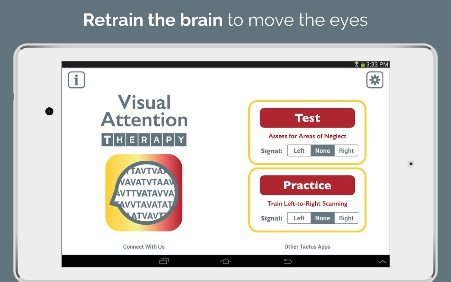 Visual Attention Therapy- screenshot