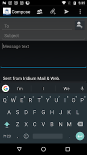 Iridium Mail & Web- screenshot thumbnail