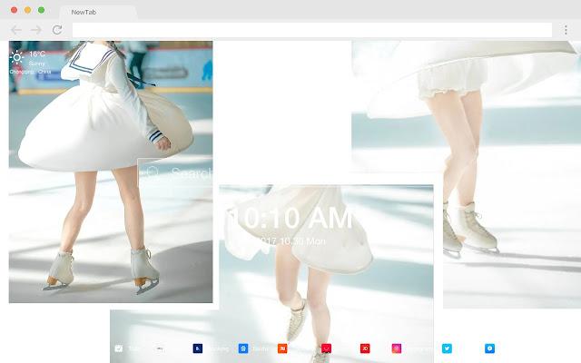 Princess costume pop photo HD new tab theme