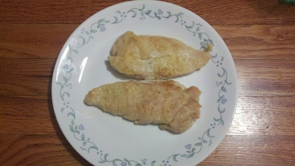 Check to make sure the chicken breasts are cooked through by turning each piece...